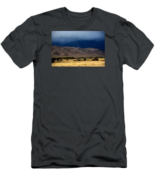 Storm Over The Great Dunes Colorado  Men's T-Shirt (Athletic Fit)