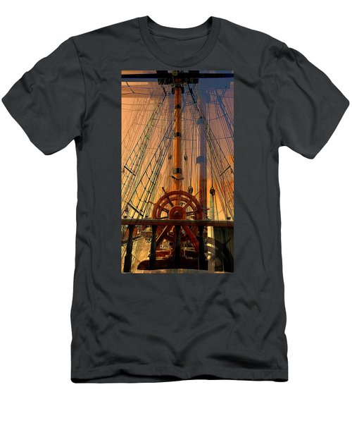 Storm Ship Of Old Men's T-Shirt (Athletic Fit)