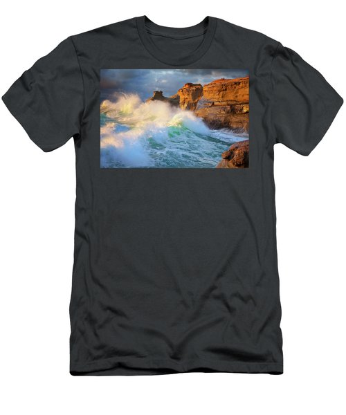 Men's T-Shirt (Slim Fit) featuring the photograph Storm Watchers by Darren White