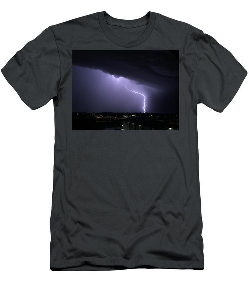 Stormy Art On The Prarie Men's T-Shirt (Athletic Fit)