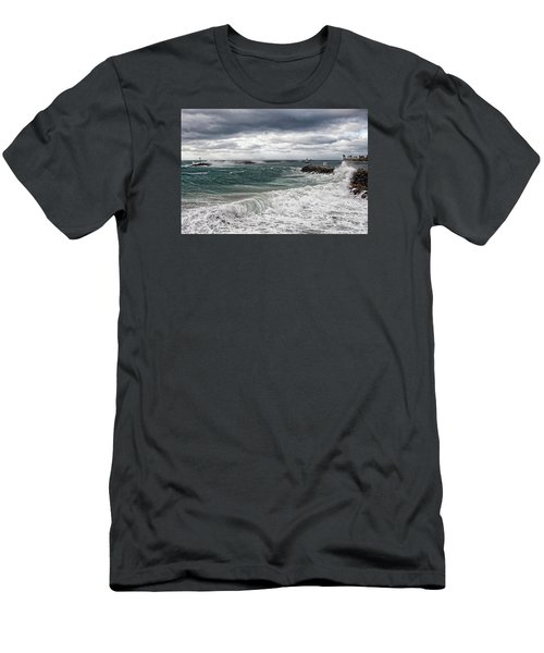 Men's T-Shirt (Athletic Fit) featuring the photograph Stormy Day On Redondo by Michael Hope