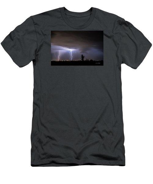 Stormy Night Men's T-Shirt (Slim Fit) by Karen Slagle