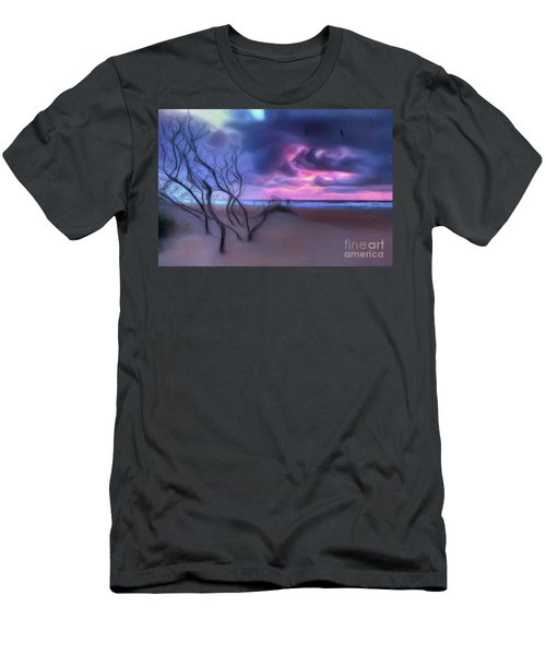 Stormy Outer Banks Sunrise And Bush Ap Men's T-Shirt (Athletic Fit)