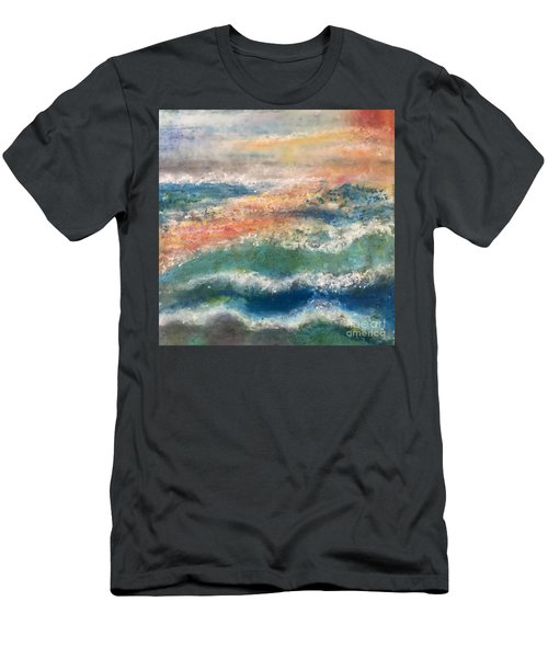 Men's T-Shirt (Slim Fit) featuring the painting Stormy Seas by Kim Nelson