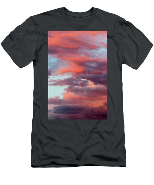 Men's T-Shirt (Athletic Fit) featuring the photograph Stormy Southwest Sunset Vertical by SR Green