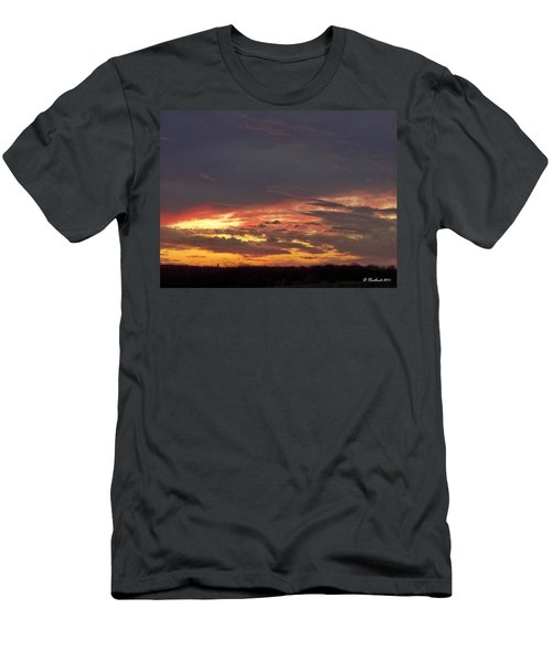 Stormy Sunset Men's T-Shirt (Slim Fit) by Betty Northcutt