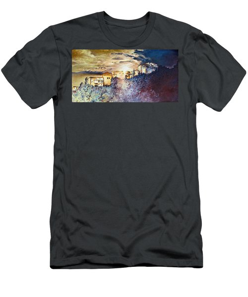 Stormy Sunset Men's T-Shirt (Slim Fit)