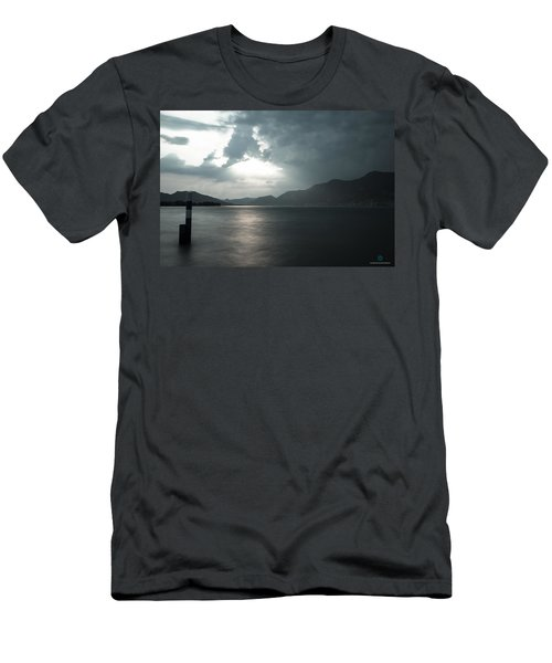 Stormy Sunset On The Lake Men's T-Shirt (Slim Fit) by Cesare Bargiggia