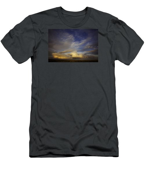 Men's T-Shirt (Slim Fit) featuring the photograph Stormy Sunset by Toni Hopper
