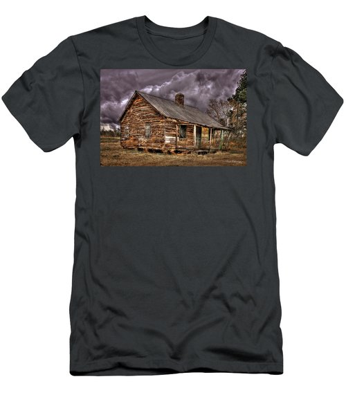 Men's T-Shirt (Athletic Fit) featuring the photograph Stormy Times Tenant House Greene County Georgia Art by Reid Callaway