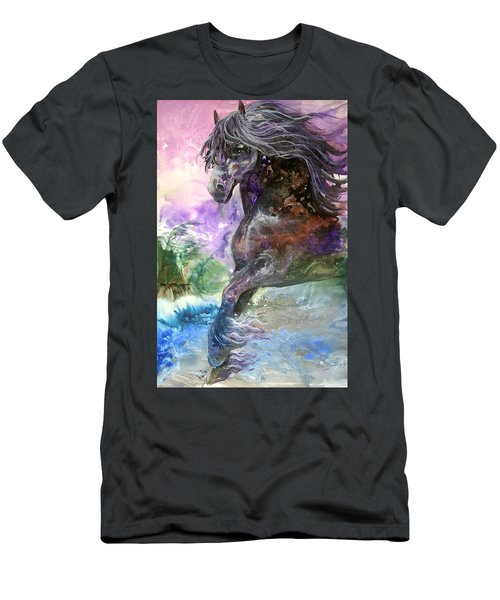 Stormy Wind Horse Men's T-Shirt (Athletic Fit)