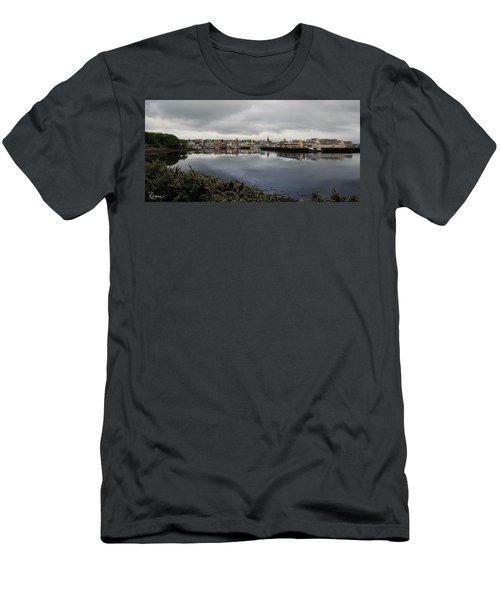 Men's T-Shirt (Athletic Fit) featuring the photograph Stornoway Panorama by Rasma Bertz