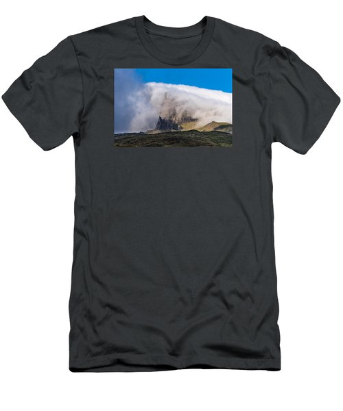 Men's T-Shirt (Slim Fit) featuring the photograph Storr In Cloud by Gary Eason