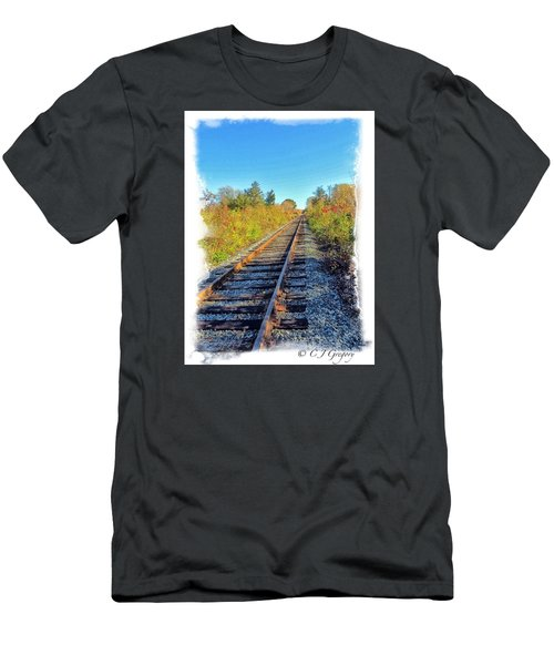 Straight Track Men's T-Shirt (Slim Fit) by Constantine Gregory