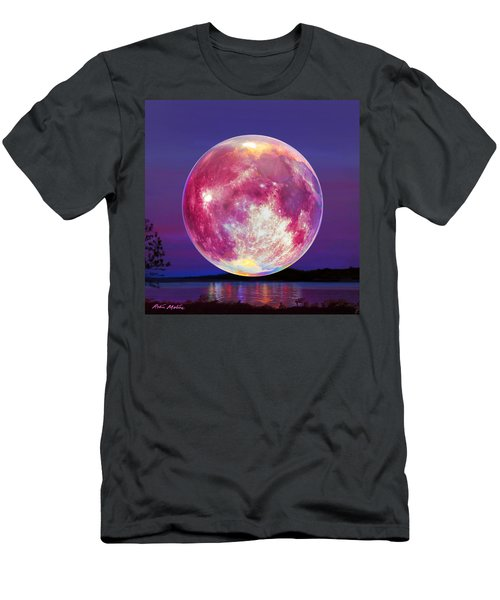 Strawberry Solstice Moon Men's T-Shirt (Athletic Fit)