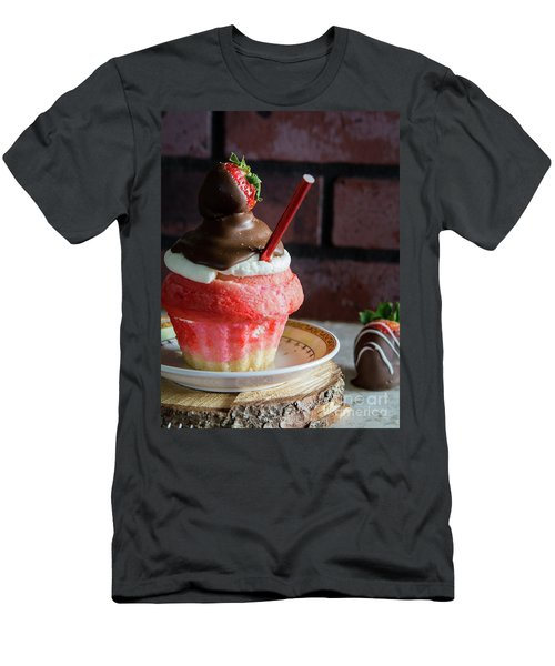 Men's T-Shirt (Slim Fit) featuring the photograph Strawberry Sundae  by Deborah Klubertanz
