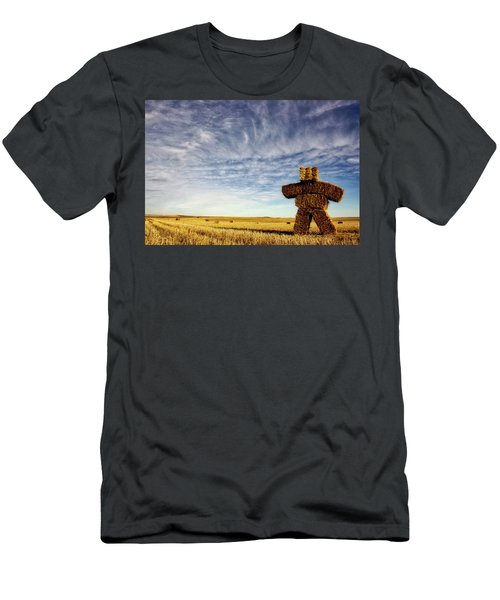 Strawman On The Prairies Men's T-Shirt (Athletic Fit)