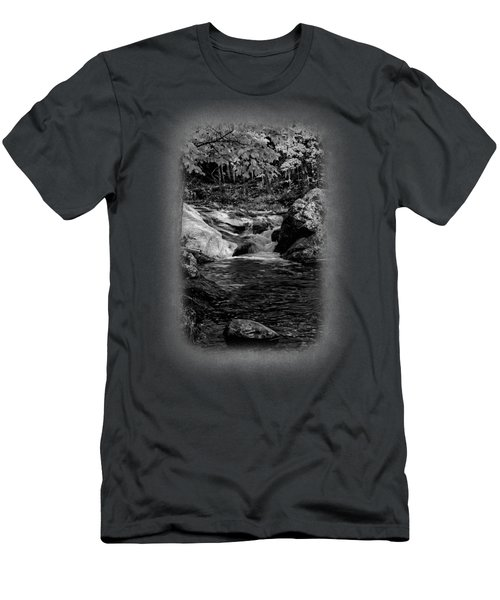 Stream In Autumn No.18 Men's T-Shirt (Slim Fit) by Mark Myhaver