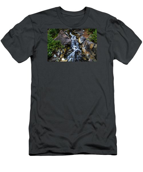 Men's T-Shirt (Slim Fit) featuring the photograph Stream by Keith Hawley