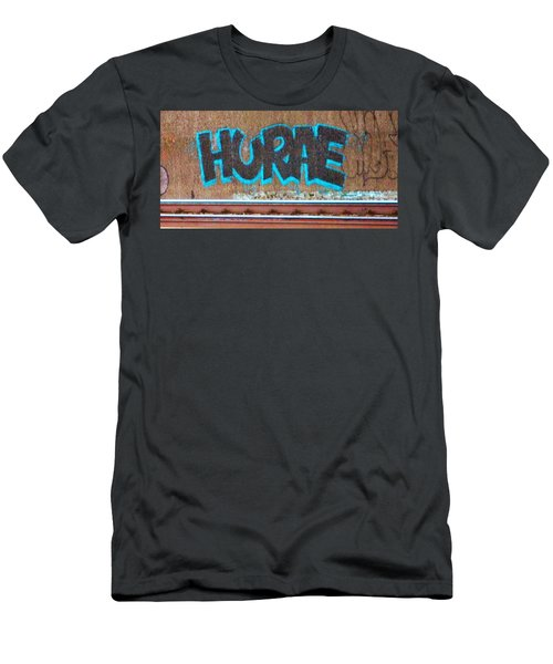 Street Graffiti-hooray Men's T-Shirt (Slim Fit) by Martin Cline