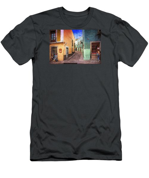 Street In Guanajuato Men's T-Shirt (Athletic Fit)