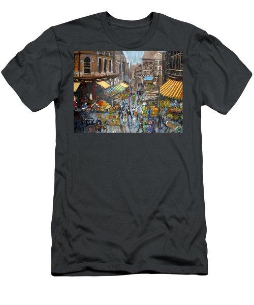 Street Scene Market Men's T-Shirt (Athletic Fit)
