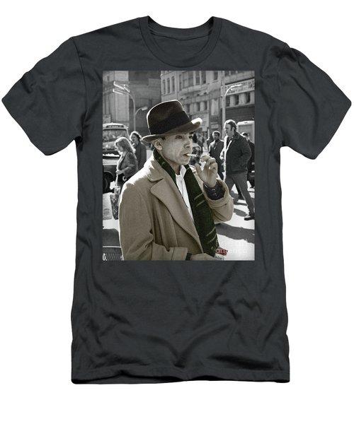 Men's T-Shirt (Slim Fit) featuring the photograph Street Smoking Man by Martin Konopacki
