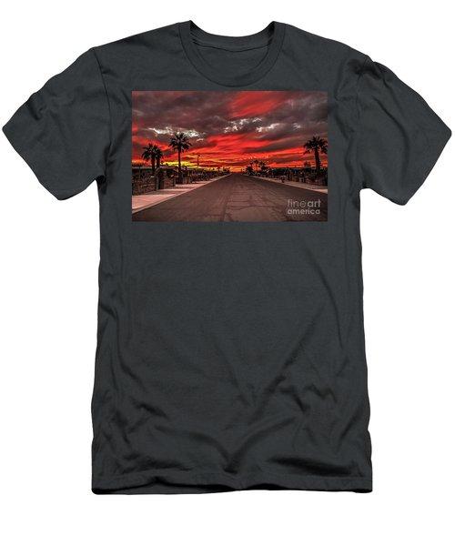 Street Sunset Men's T-Shirt (Slim Fit) by Robert Bales