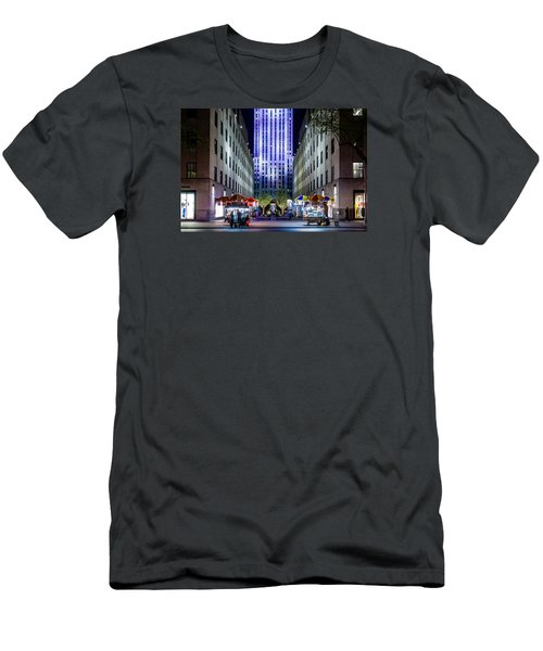 Men's T-Shirt (Slim Fit) featuring the photograph Rockefeller Center by M G Whittingham