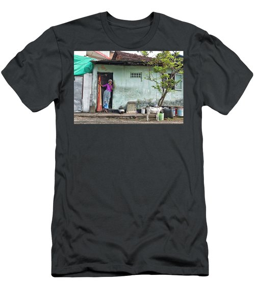 Streets Of Kochi Men's T-Shirt (Slim Fit) by Marion Galt