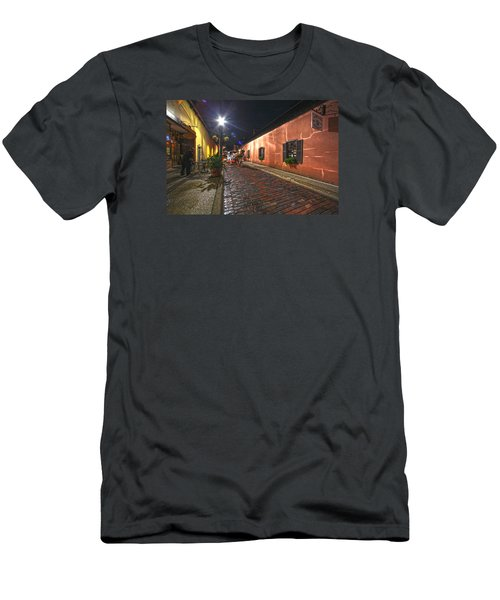 Streets Of St Augustine Men's T-Shirt (Slim Fit) by Robert Och