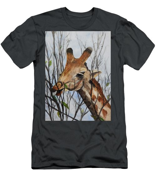 Men's T-Shirt (Slim Fit) featuring the painting Stretch by Betty-Anne McDonald