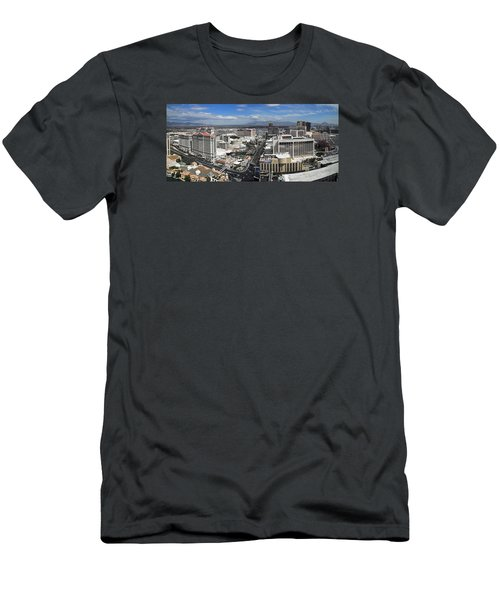 Strip And Flamingo Men's T-Shirt (Slim Fit)