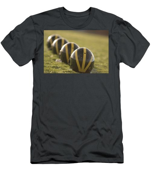 Striped Helmets On Yard Line Men's T-Shirt (Athletic Fit)