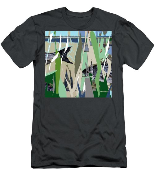 Men's T-Shirt (Slim Fit) featuring the mixed media Striper  by Andrew Drozdowicz
