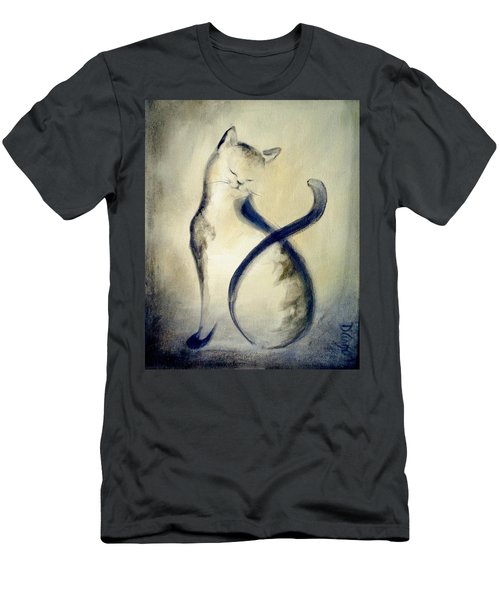 Stripey Cat 2 Men's T-Shirt (Athletic Fit)