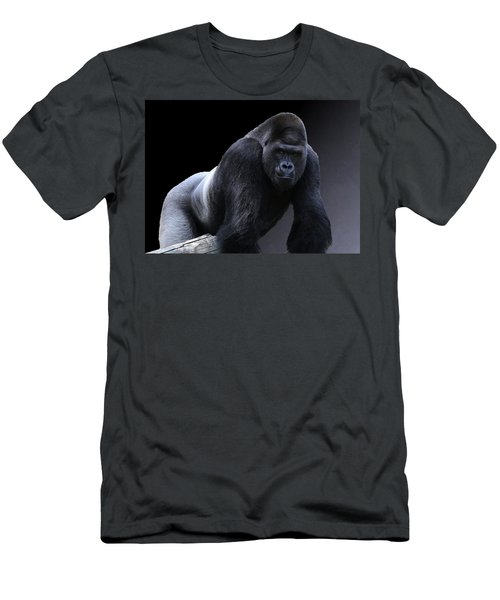 Strong Male Gorilla Men's T-Shirt (Athletic Fit)