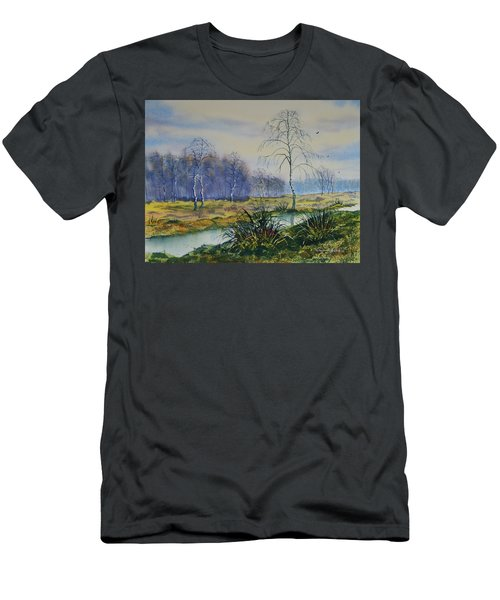 Stream In Flood On Strensall Common Men's T-Shirt (Athletic Fit)