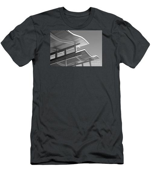 Structure Abstract 7 Men's T-Shirt (Slim Fit) by Cheryl Del Toro