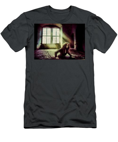 Men's T-Shirt (Slim Fit) featuring the digital art Stuck by Gun Legler