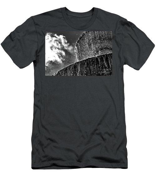 Students Fountain Men's T-Shirt (Slim Fit) by Juergen Klust