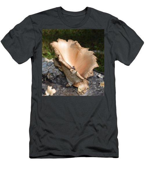 Men's T-Shirt (Slim Fit) featuring the photograph Stump Mushroom  by R  Allen Swezey
