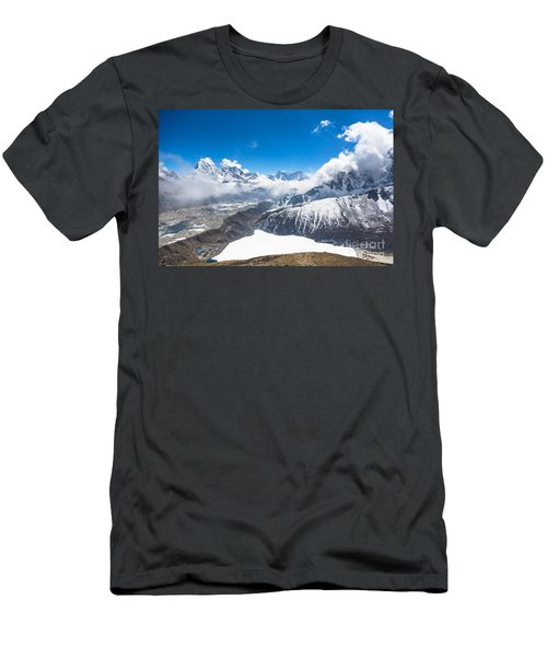 Stunning Panorama Over Gokyo In Nepal Men's T-Shirt (Athletic Fit)