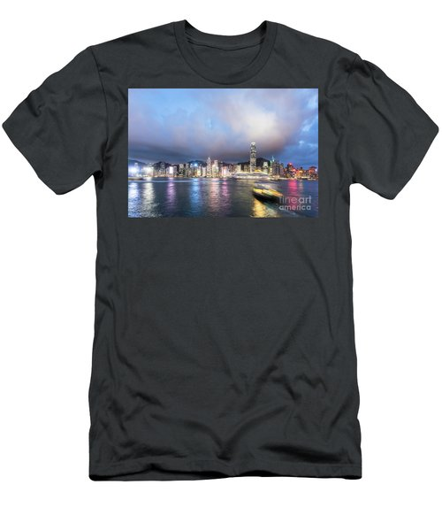 Stunning View Of Hong Kong Island At Night.  Men's T-Shirt (Athletic Fit)