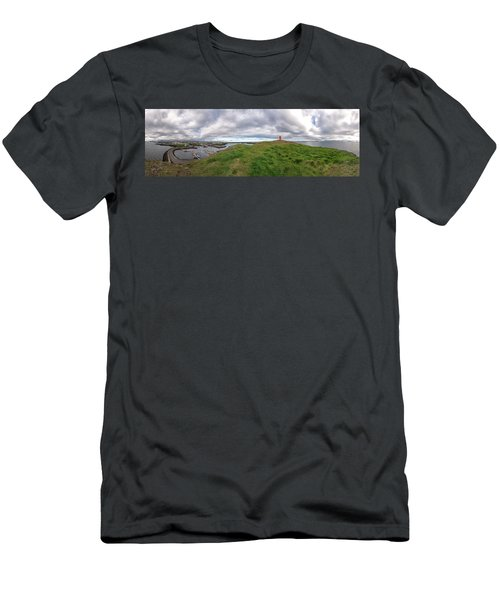 Stykkisholmur Harbor Pano Men's T-Shirt (Athletic Fit)
