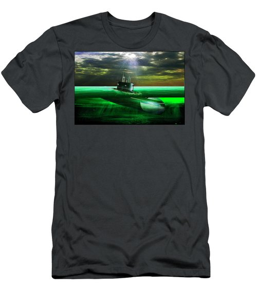 Submarine Men's T-Shirt (Slim Fit) by Michael Cleere
