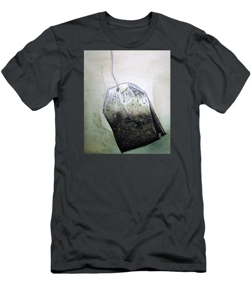 Submerged Tea Bag Men's T-Shirt (Slim Fit) by Mary Ellen Frazee