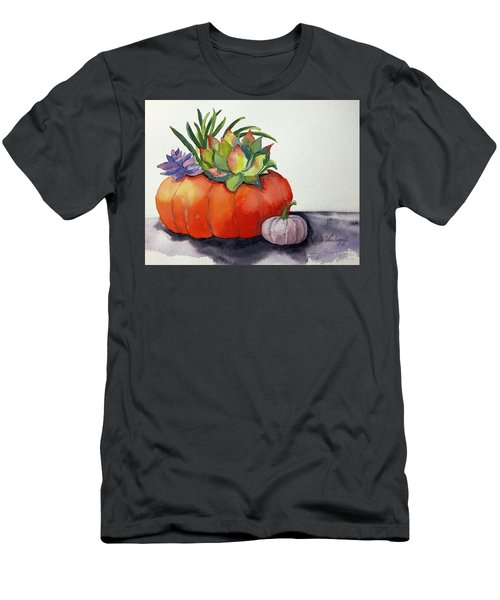 Succulents In Pumpkin Men's T-Shirt (Athletic Fit)