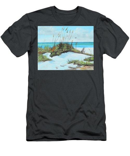 Sugar White Beach Men's T-Shirt (Athletic Fit)