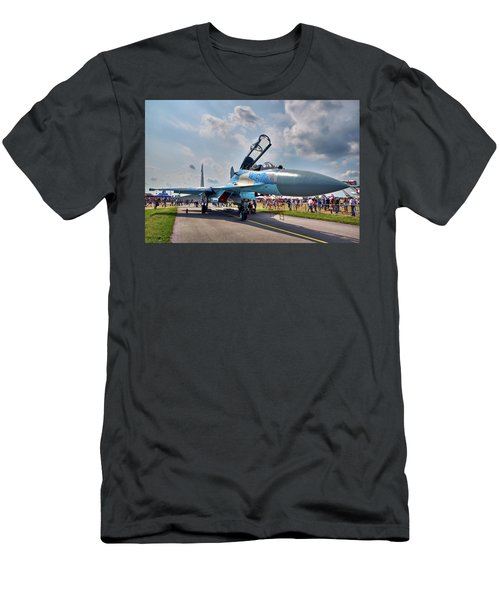 Men's T-Shirt (Athletic Fit) featuring the photograph Sukhoi by Tgchan